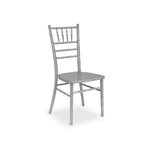 Chiavari Tiffany fa esküvői bankett szék fehér szürke színben