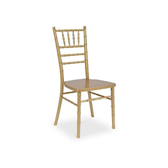 Chiavari Tiffany fa esküvői bankett szék arany színben