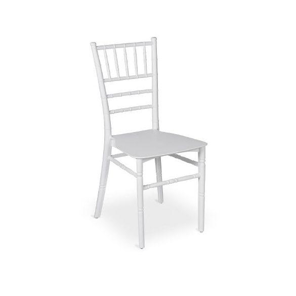 Chiavary műanyag esküvői bankett szék fehér színben