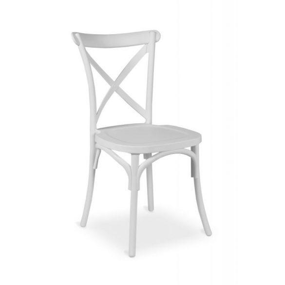 M - Fiorini műanyag szék - fekete színben