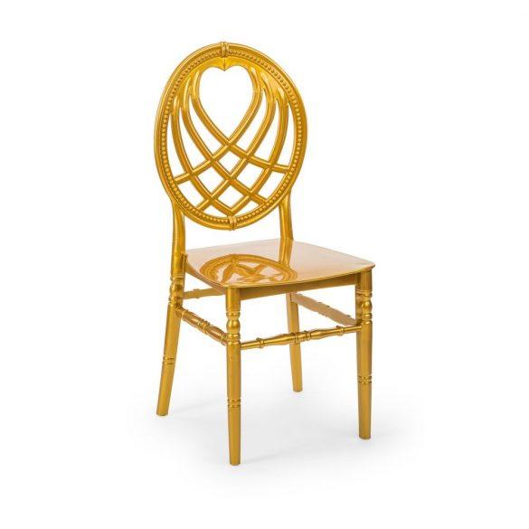 M - King esküvői szék - arany színben