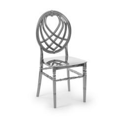 M - King esküvői szék - ezüst színben