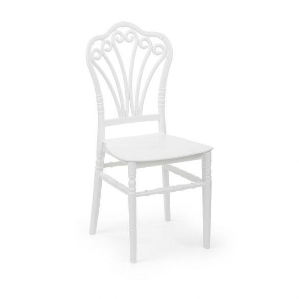 M - Lord esküvői szék - fehér színben
