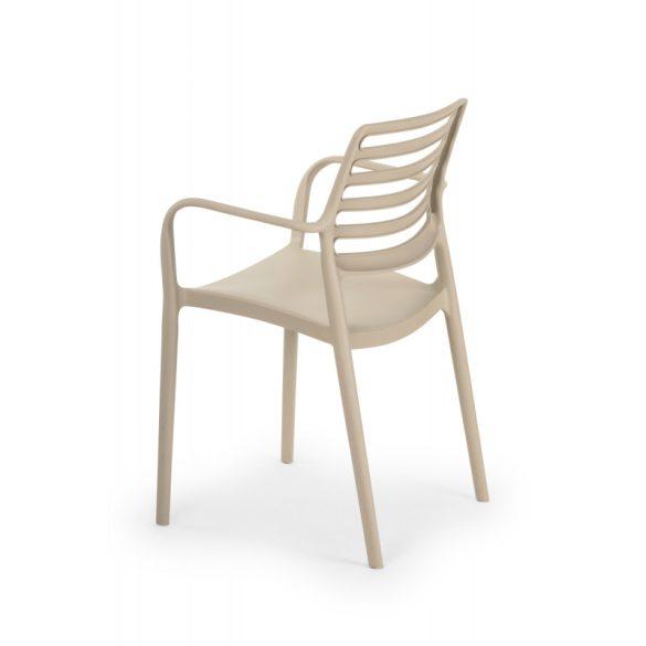 M - Luca kültéri szék - antracit színben