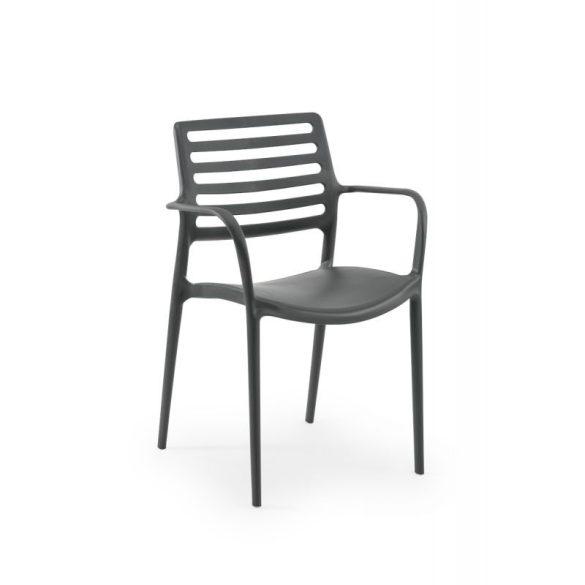M - Luca kültéri szék - fekete színben