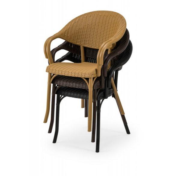 M - Marco kültéri szék - fekete színben