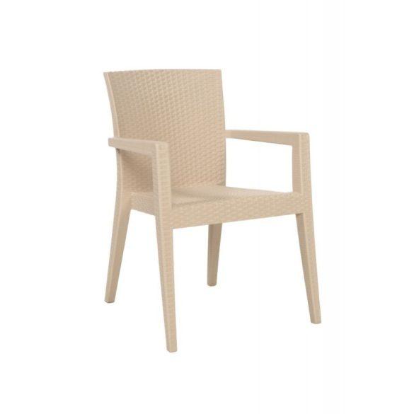 M - Mario kültéri szék - krém színben