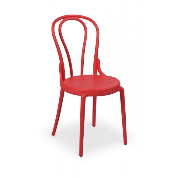 M - Monet kültéri szék - piros színben