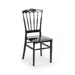 M - Napoleon esküvői szék - fekete színben