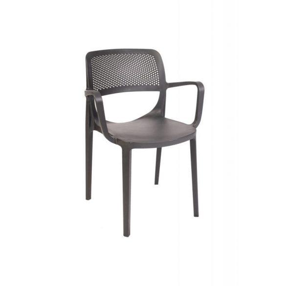 M - Nicole kültéri szék - szürke antracit színben