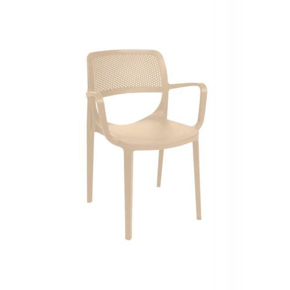 M - Nicole kültéri szék - fehér színben