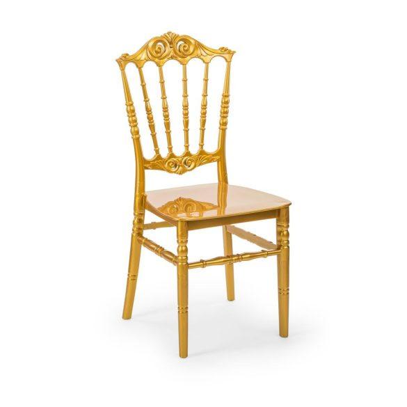 M - Princess esküvői szék - arany színben