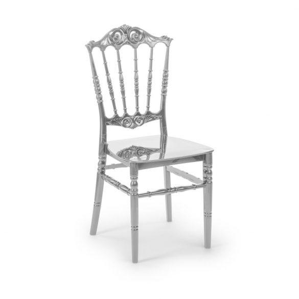 M - Princess esküvői szék - ezüst színben