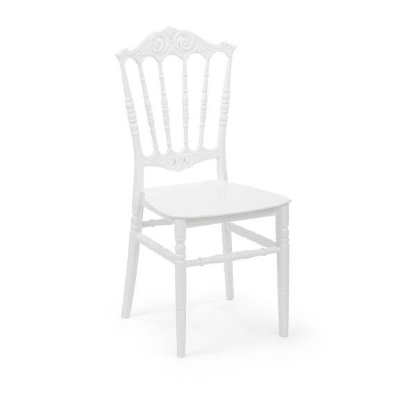 M - Princess esküvői szék - fehér színben