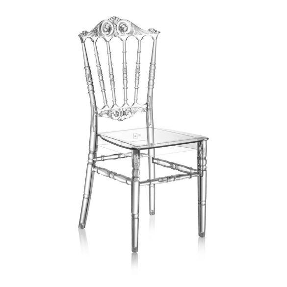 M - Princess esküvői szék - polikarbonát