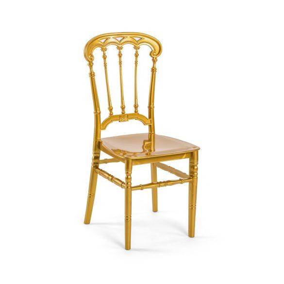 M - Queen esküvői szék - arany színben