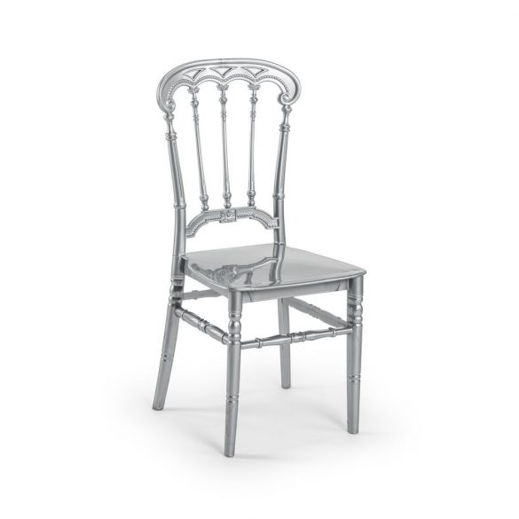 M - Queen esküvői szék - ezüst színben