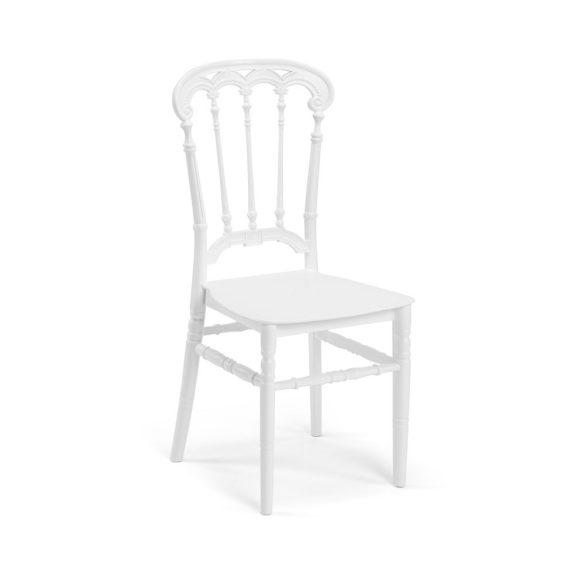 M - Queen esküvői szék - fehér színben