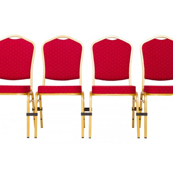 ST 220 konferenciaszék arany váz - piros szövet