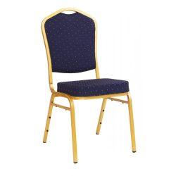 ST 370 konferenciaszék arany színű vűz - kék szövet