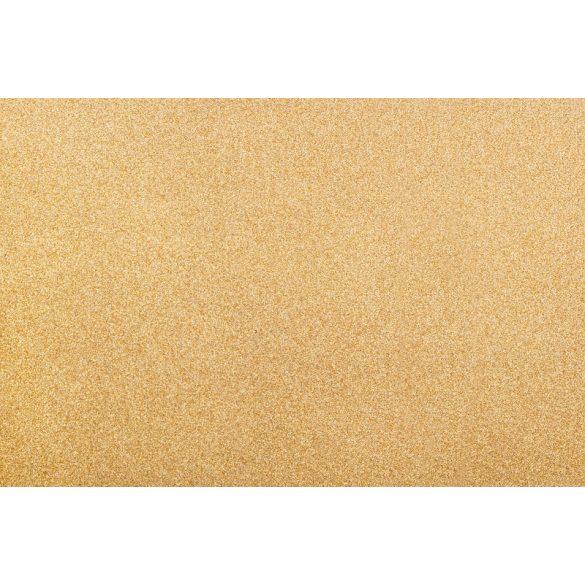 ST 633 konferenciaszék arany színű váz - barna szövet