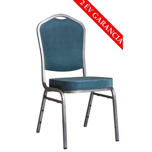 ST 830 konferenciaszék szürke színű vűz - türkiz kék szövet