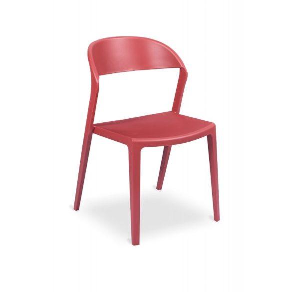 M - Tokyo műanyag szék - piros színben