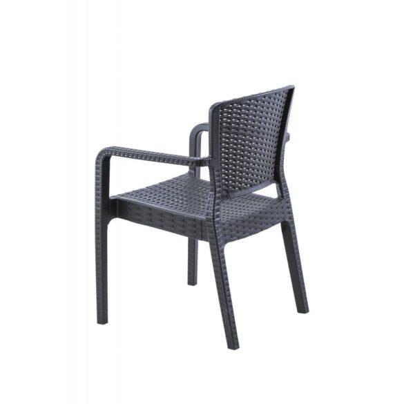 M - Vito kültéri szék - fekete színben