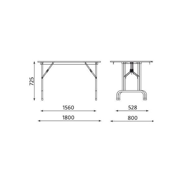 Rico 180 összecsukható asztal