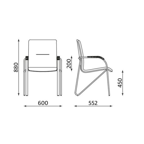 T - Samba rakásolható szék