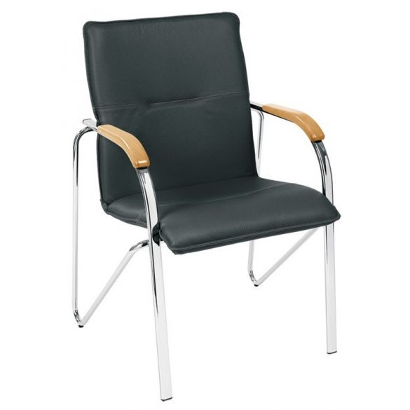T - Samba bőr szék - Fekete/Bükk