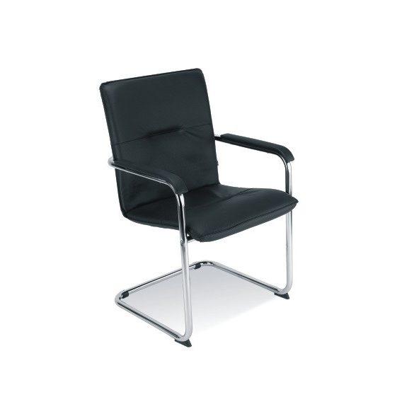 T - Silla rakásolható szánkótalpas szék - FEKETE