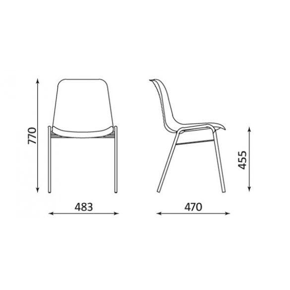 T - Beta műanyag szék