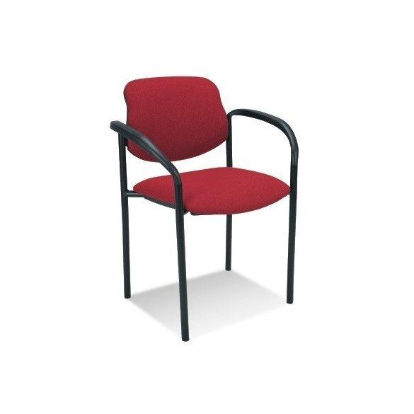 T - Styl karfás rakásolható szék - piros színben