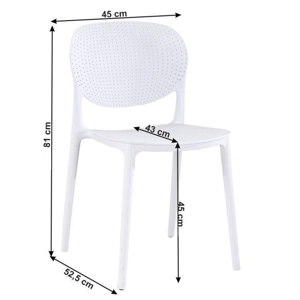 TK - Fedra fehér műanyag szék