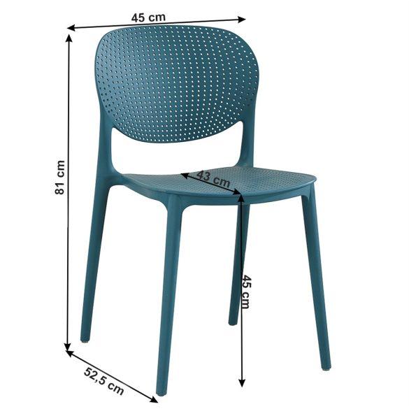 TK - Fedra kék műanyag szék