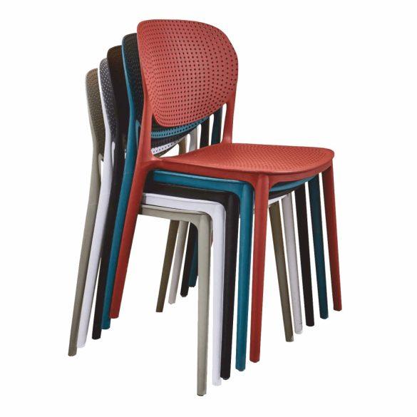 TK - Fedra piros műanyag szék