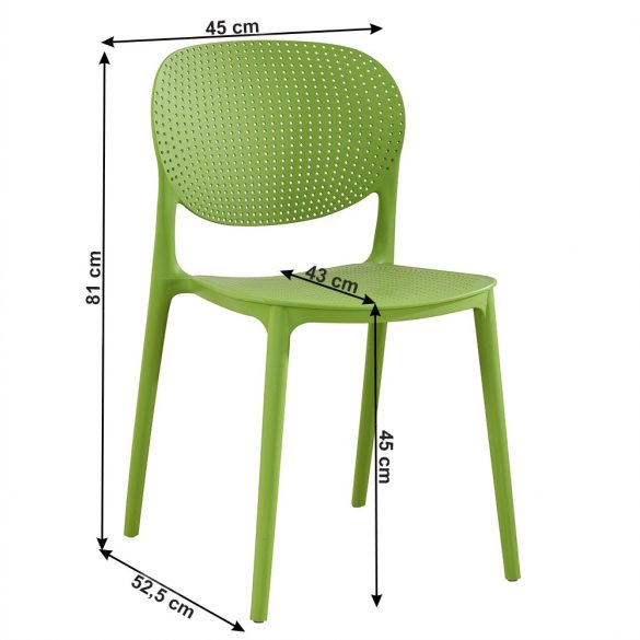 fedra zöld műanyag szék