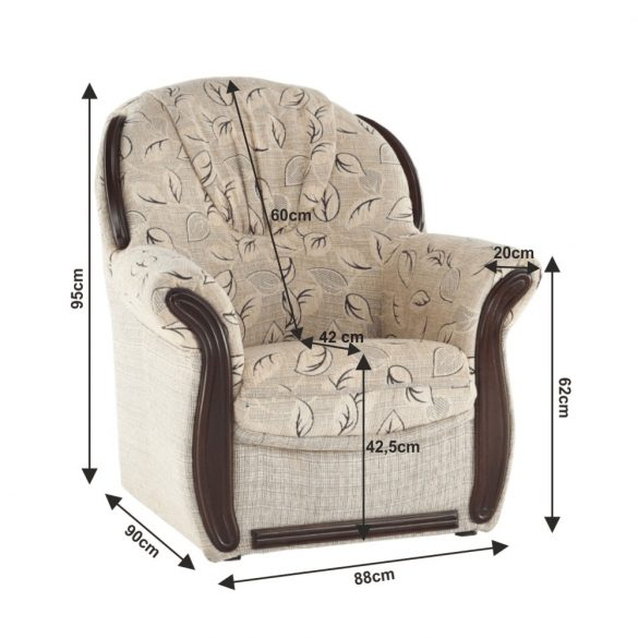 TK - Mety 3+1+1-es ülőgarnitúra - bézs színű szövettel